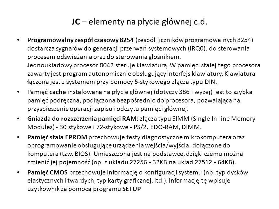JC – elementy na płycie głównej c.d.