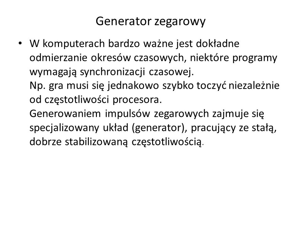 Generator zegarowy