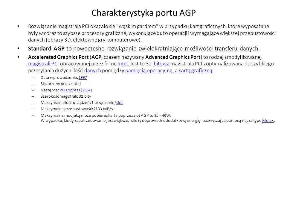 Charakterystyka portu AGP