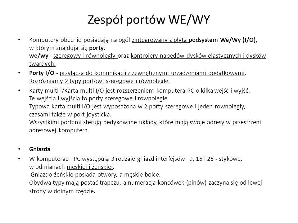 Zespół portów WE/WY