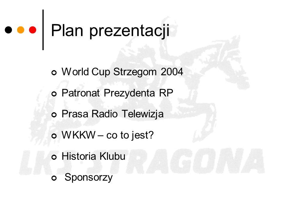 Plan prezentacji World Cup Strzegom 2004 Patronat Prezydenta RP