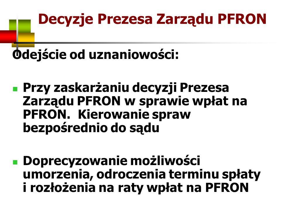 Decyzje Prezesa Zarządu PFRON