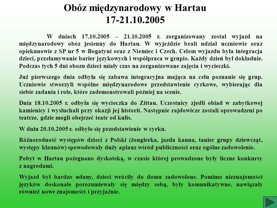Obóz międzynarodowy w Hartau 17-21.10.2005