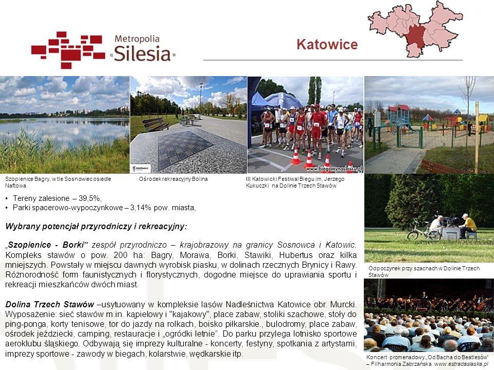 Katowice Wybrany potencjał przyrodniczy i rekreacyjny: