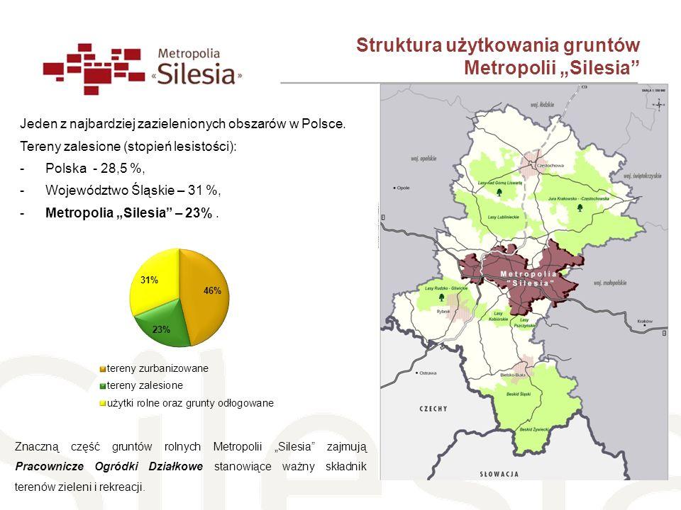 """Struktura użytkowania gruntów Metropolii """"Silesia"""