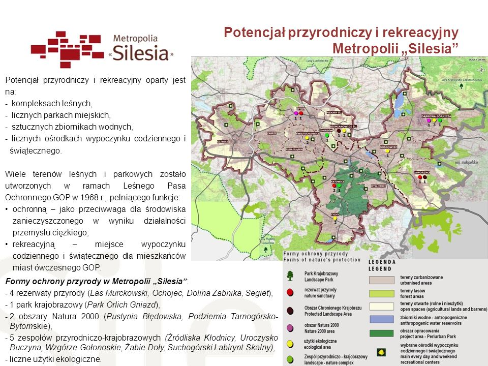 """Potencjał przyrodniczy i rekreacyjny Metropolii """"Silesia"""