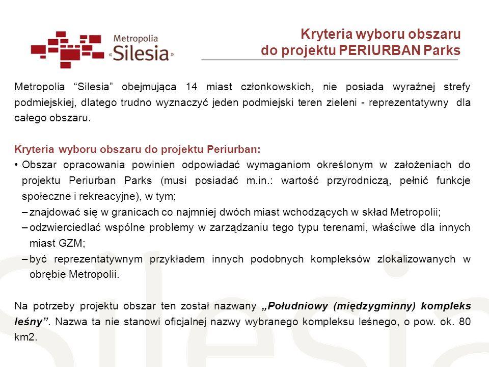 Kryteria wyboru obszaru do projektu PERIURBAN Parks