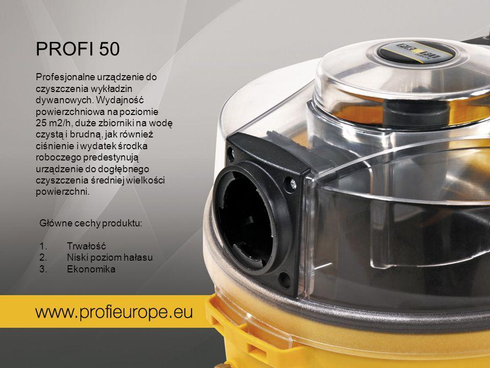 PROFI 50 Profesjonalne urządzenie do czyszczenia wykładzin dywanowych. Wydajność powierzchniowa na poziomie.