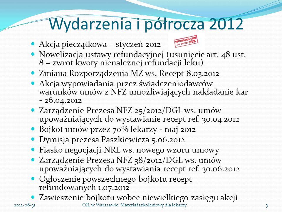 Wydarzenia i półrocza 2012 Akcja pieczątkowa – styczeń 2012