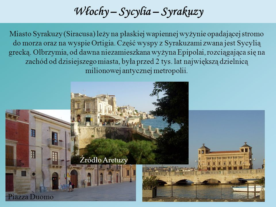 Włochy – Sycylia – Syrakuzy