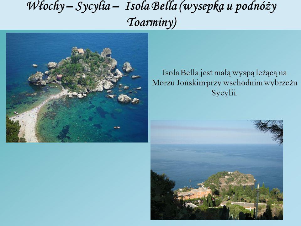 Włochy – Sycylia – Isola Bella (wysepka u podnóży Toarminy)