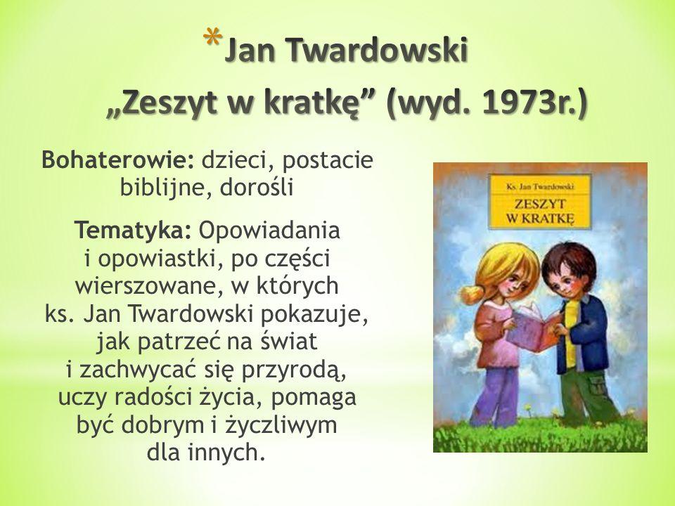 """Jan Twardowski """"Zeszyt w kratkę (wyd. 1973r.)"""