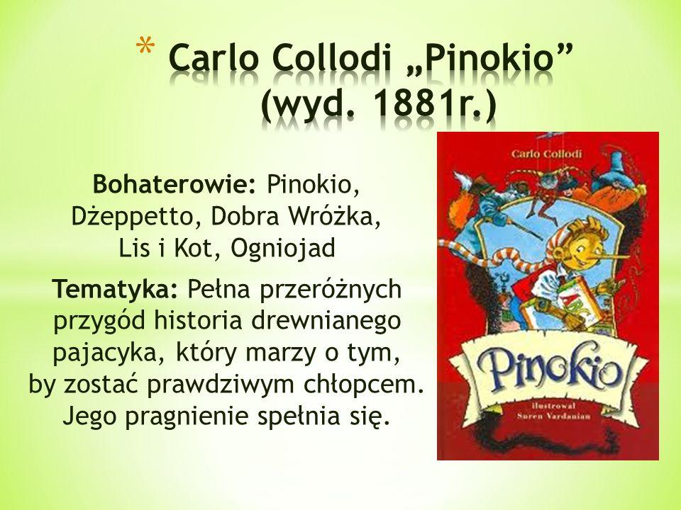"Carlo Collodi ""Pinokio (wyd. 1881r.)"