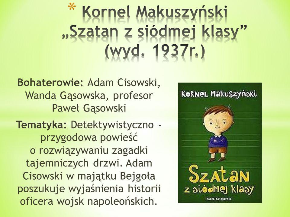 """Kornel Makuszyński """"Szatan z siódmej klasy (wyd. 1937r.)"""