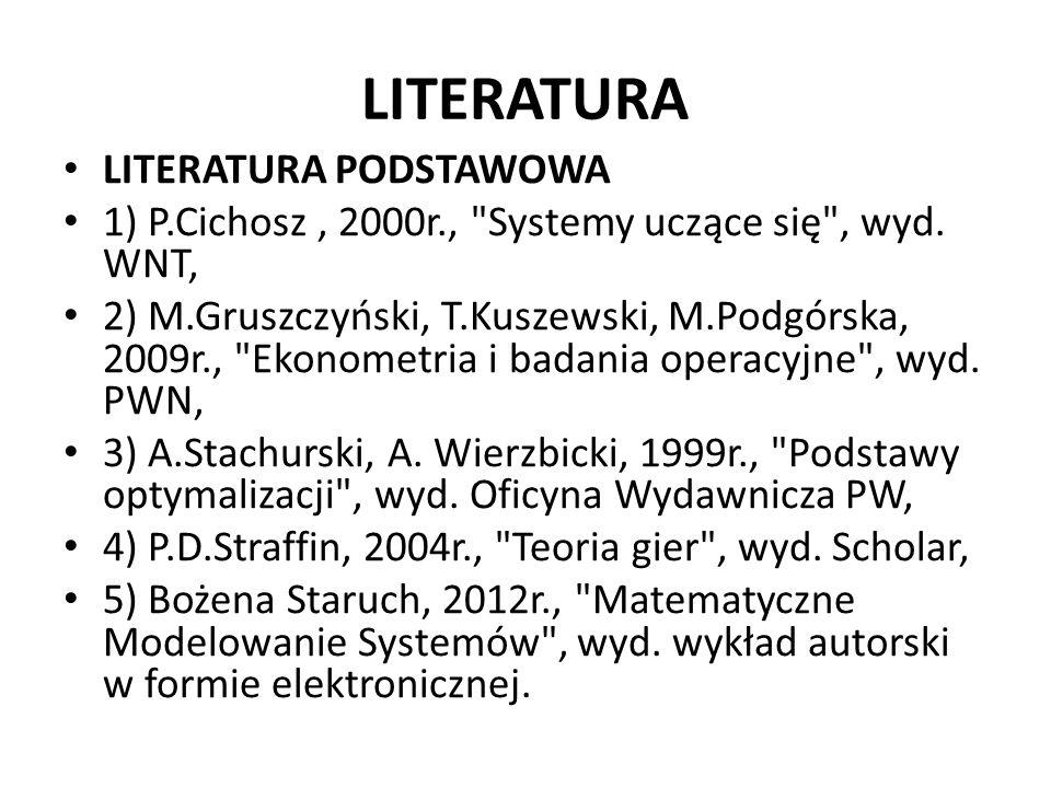LITERATURA LITERATURA PODSTAWOWA