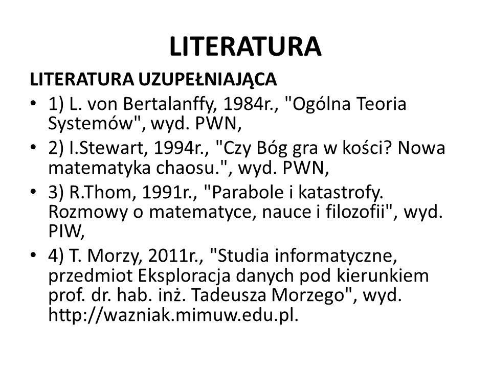 LITERATURA LITERATURA UZUPEŁNIAJĄCA