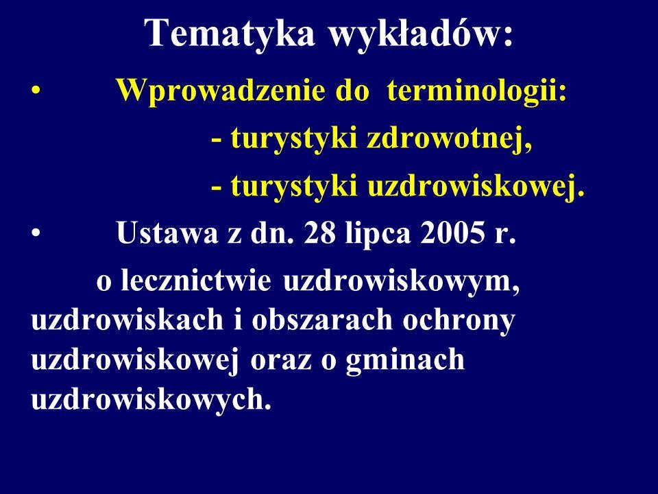 Tematyka wykładów: Wprowadzenie do terminologii: