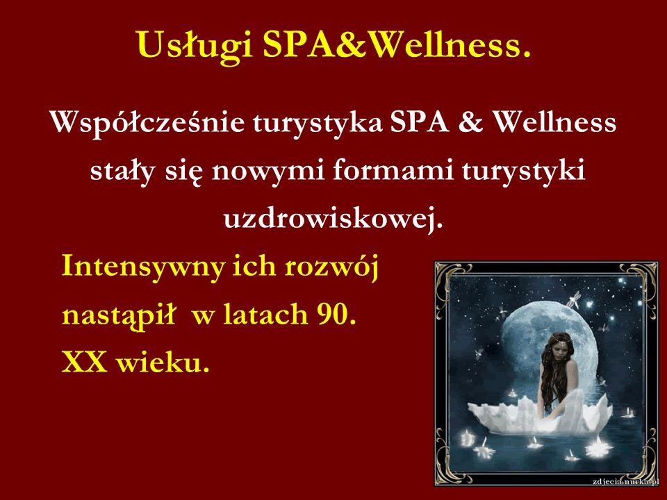 Usługi SPA&Wellness. Współcześnie turystyka SPA & Wellness