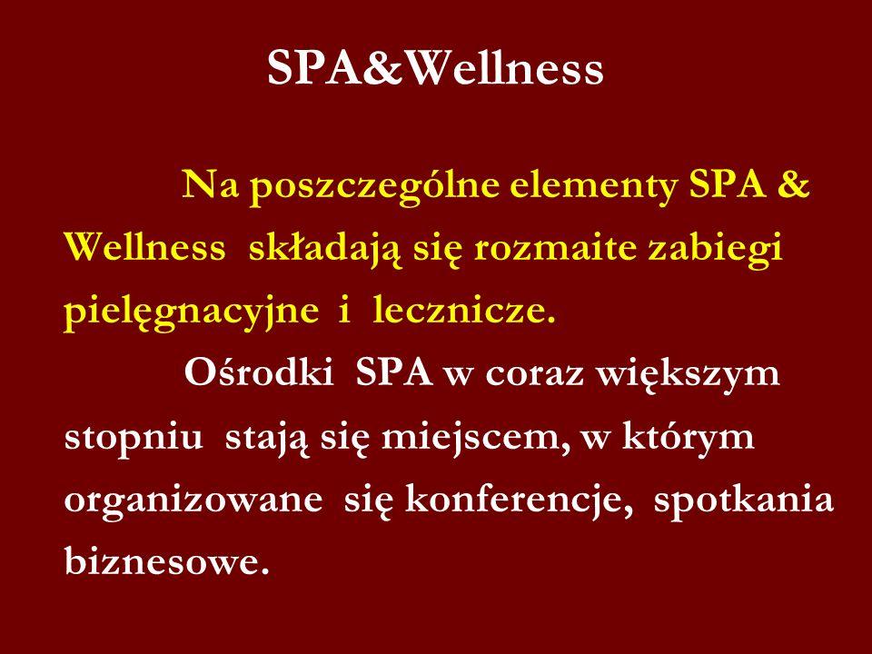 SPA&Wellness Wellness składają się rozmaite zabiegi