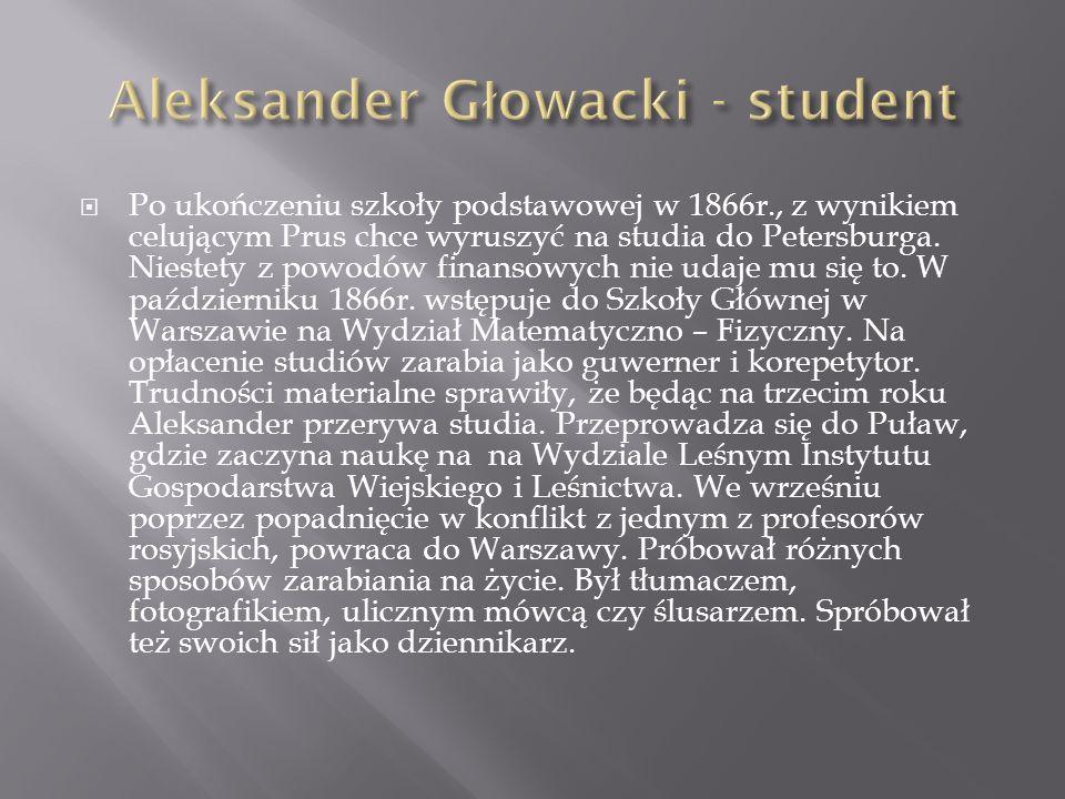 Aleksander Głowacki - student