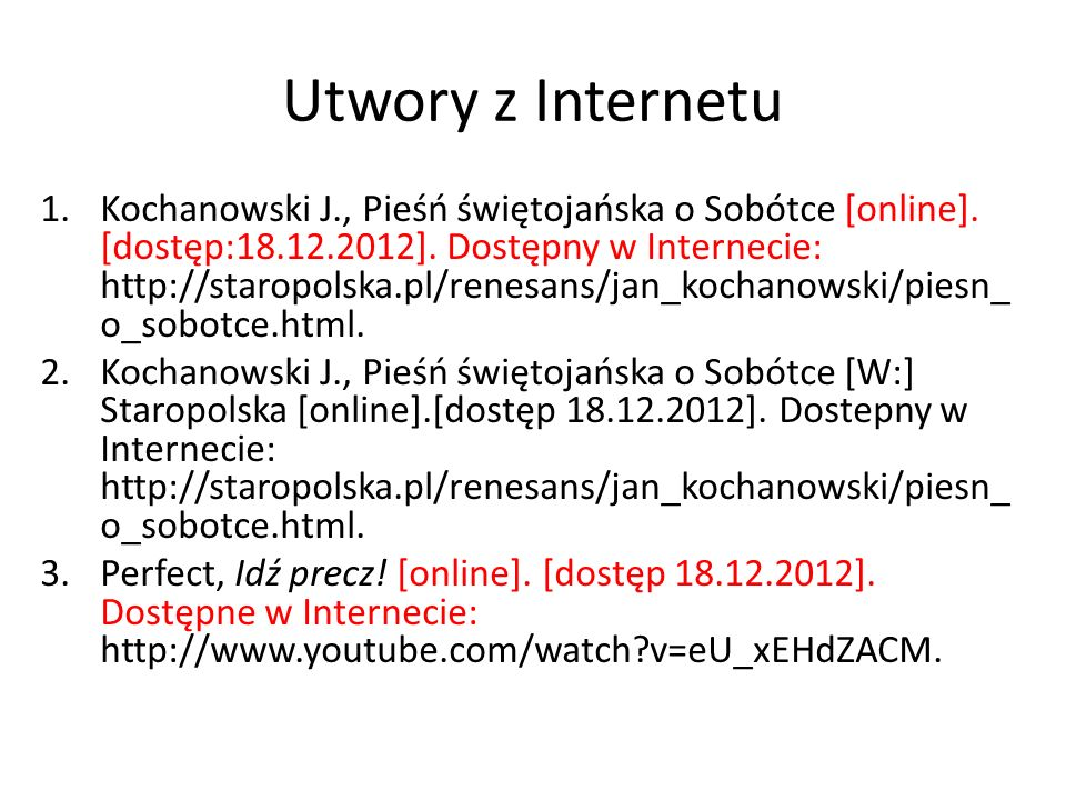 Utwory z Internetu