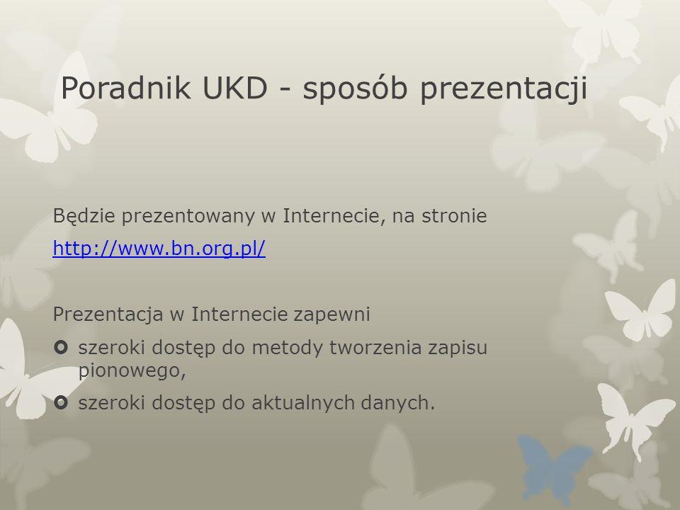 Poradnik UKD - sposób prezentacji