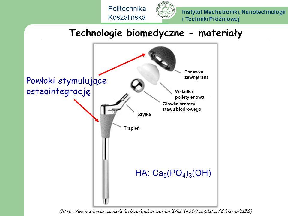 Technologie biomedyczne - materiały