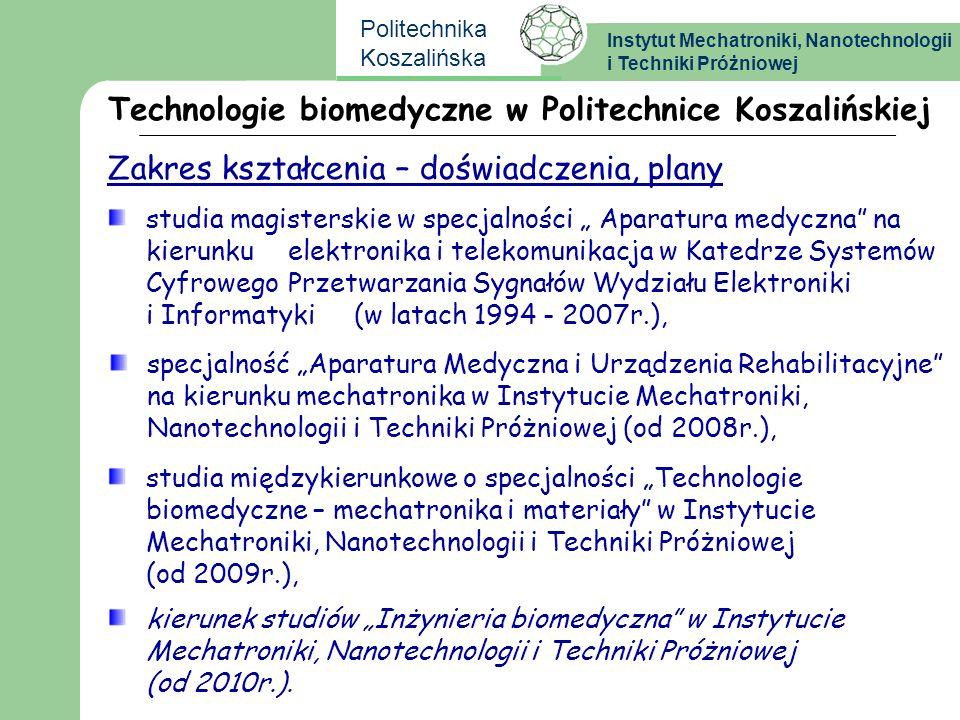 Technologie biomedyczne w Politechnice Koszalińskiej