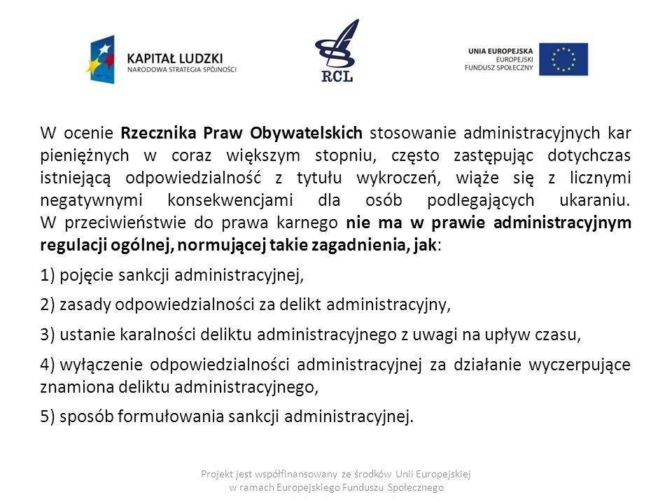pojęcie sankcji administracyjnej,