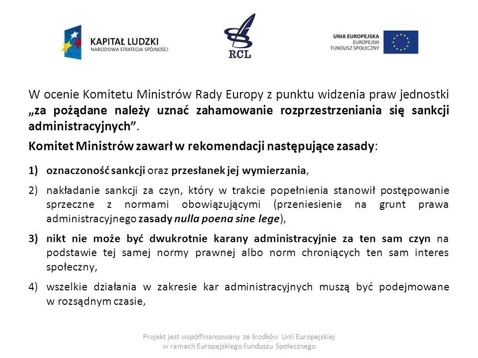 Komitet Ministrów zawarł w rekomendacji następujące zasady:
