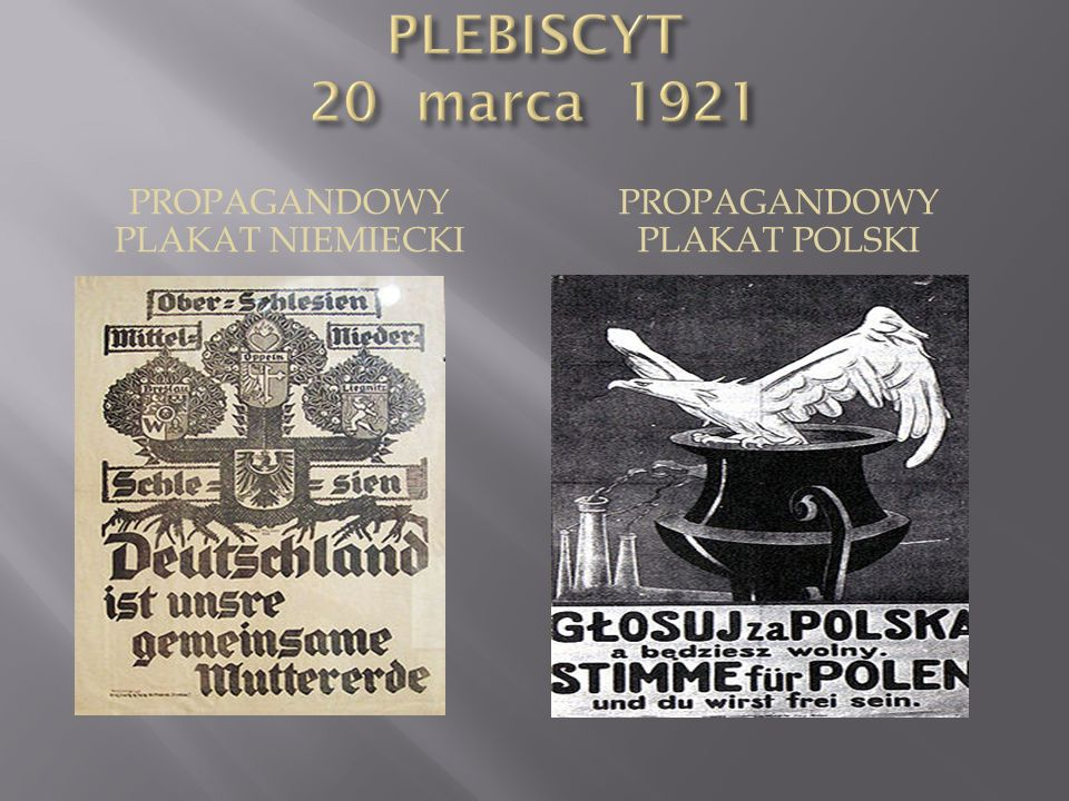 PLEBISCYT 20 marca 1921 Propagandowy plakat niemiecki