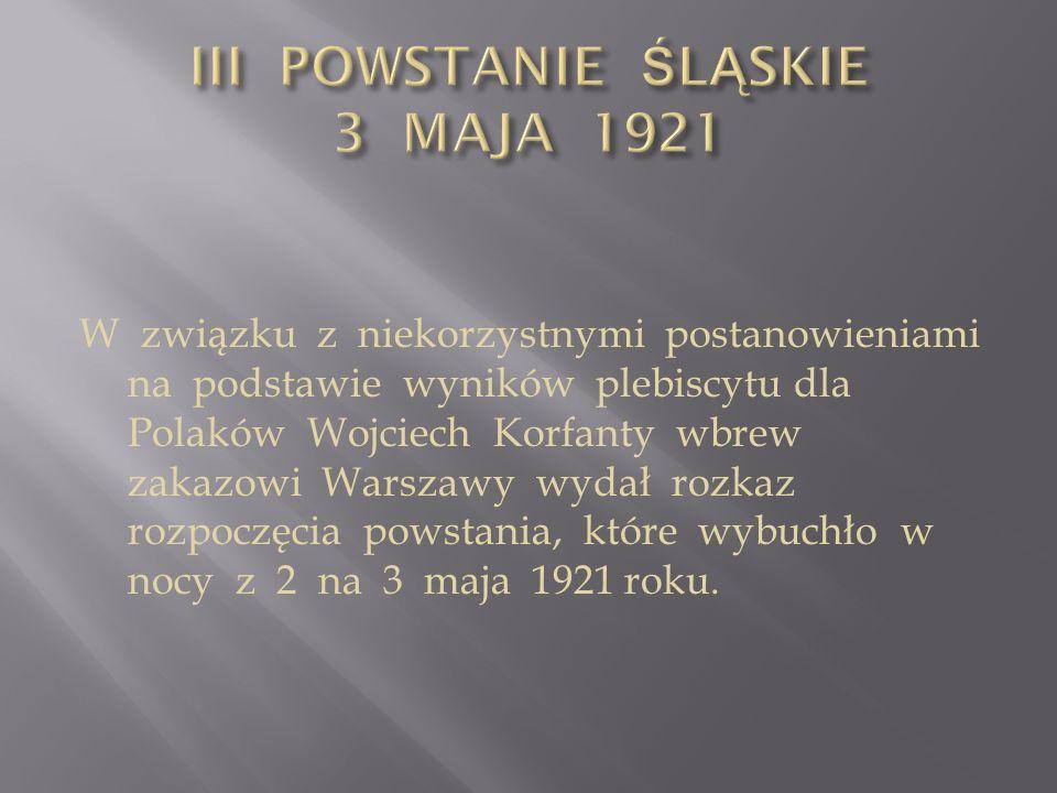 III POWSTANIE ŚLĄSKIE 3 MAJA 1921
