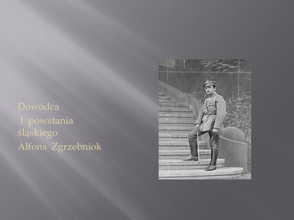 Dowódca I powstania śląskiego Alfons Zgrzebniok
