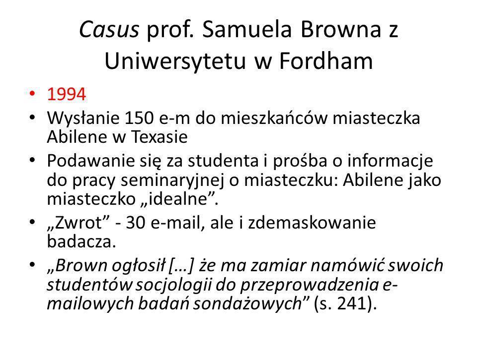 Casus prof. Samuela Browna z Uniwersytetu w Fordham