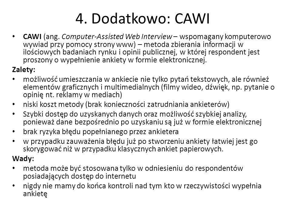 4. Dodatkowo: CAWI