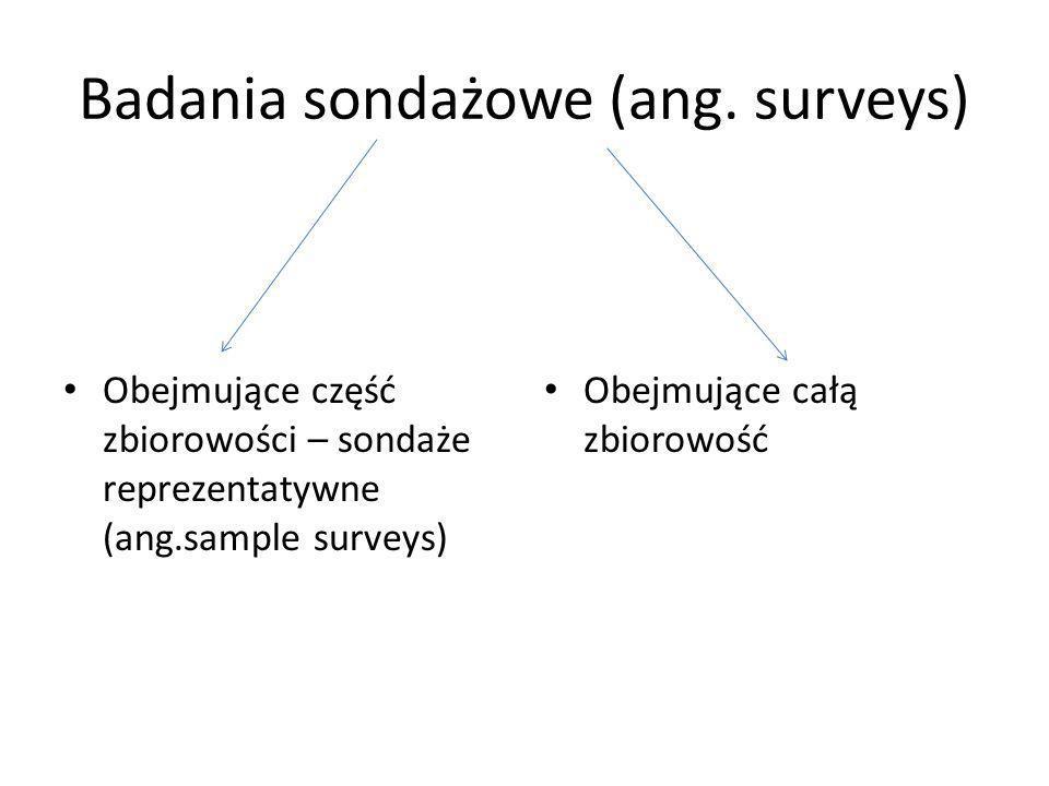 Badania sondażowe (ang. surveys)