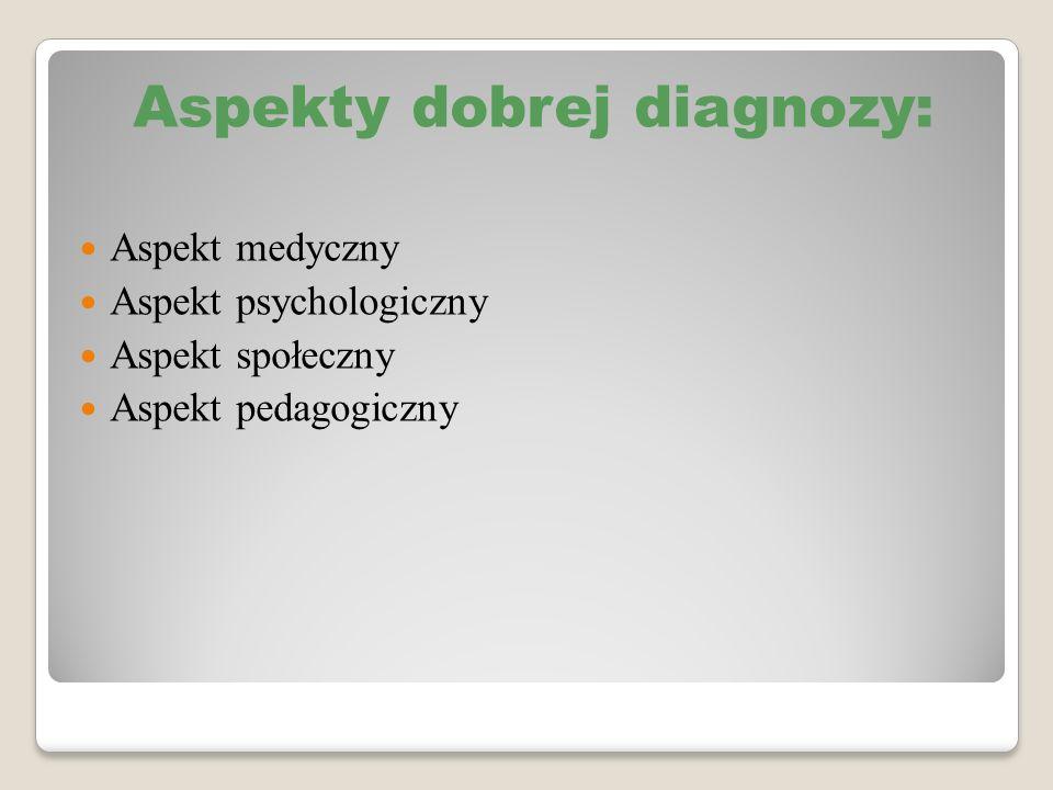 Aspekty dobrej diagnozy: