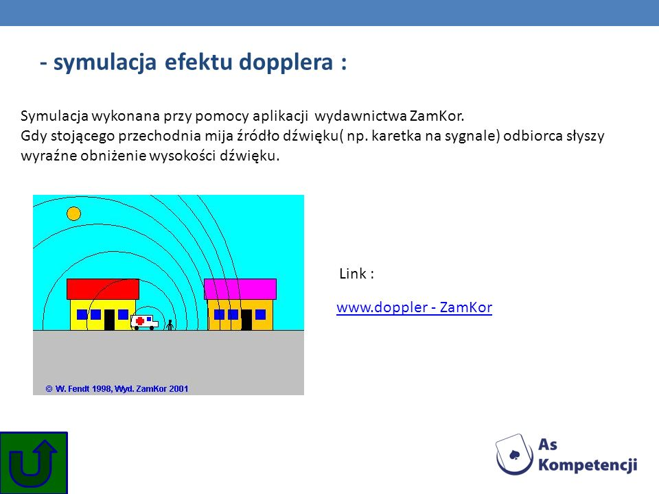 - symulacja efektu dopplera :