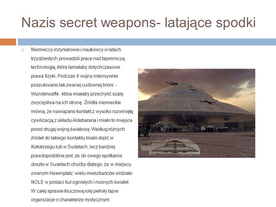 Nazis secret weapons- latające spodki