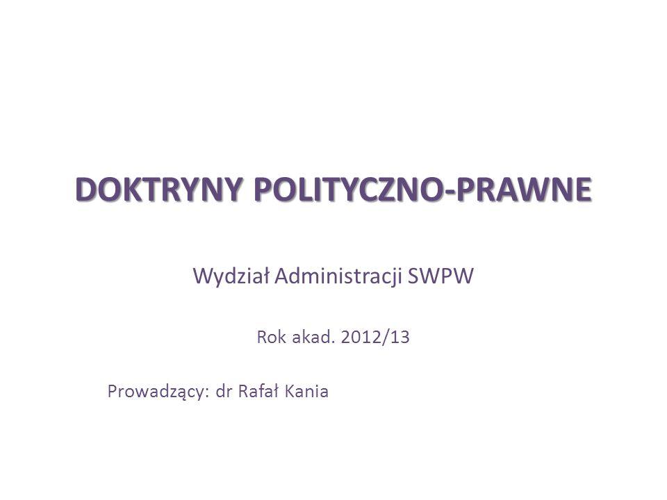 DOKTRYNY POLITYCZNO-PRAWNE