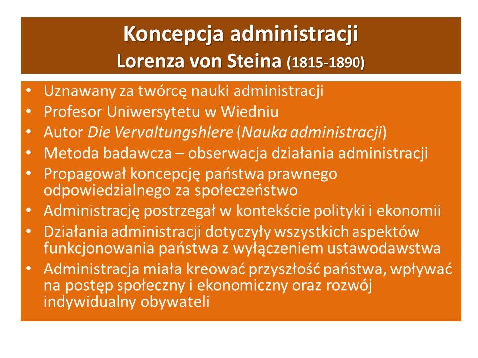 Koncepcja administracji Lorenza von Steina (1815-1890)