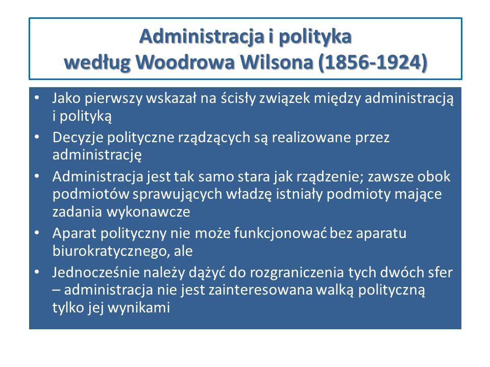 Administracja i polityka według Woodrowa Wilsona (1856-1924)