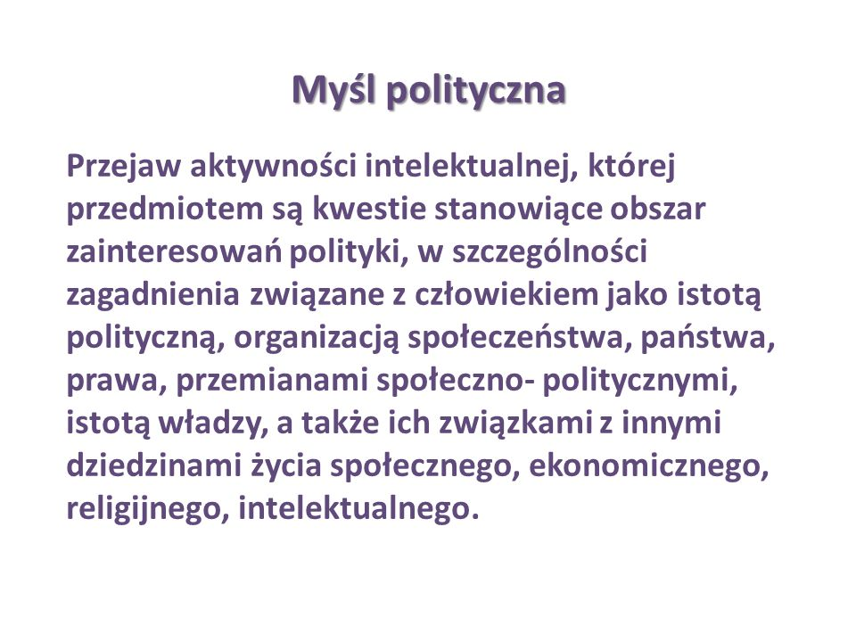 Myśl polityczna