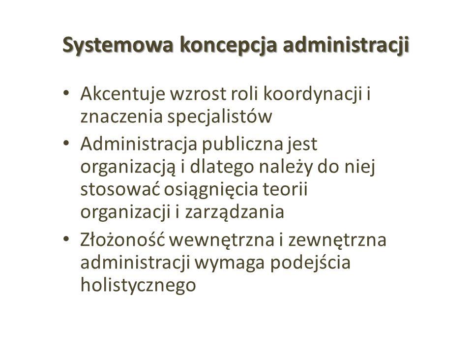 Systemowa koncepcja administracji