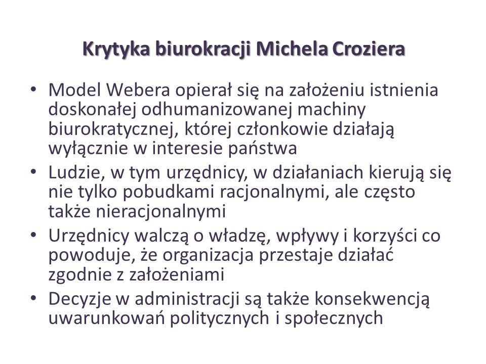 Krytyka biurokracji Michela Croziera