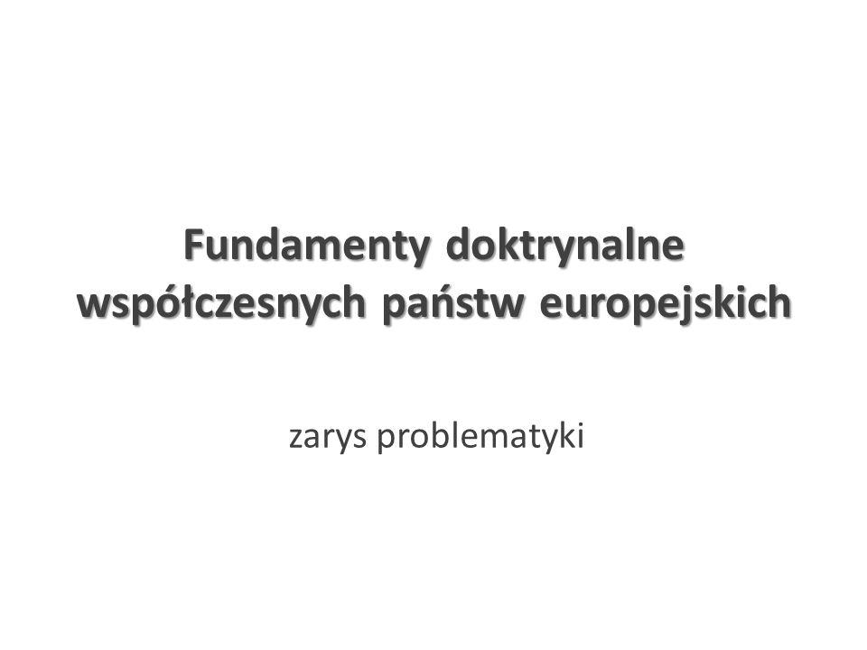 Fundamenty doktrynalne współczesnych państw europejskich