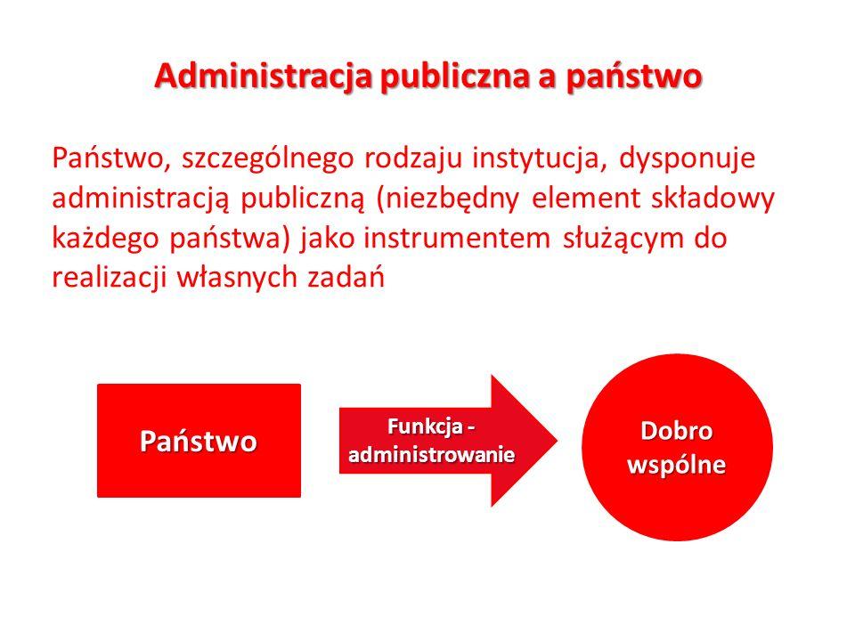 Administracja publiczna a państwo