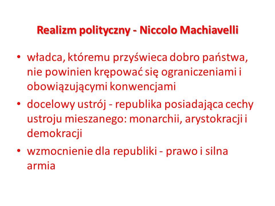 Realizm polityczny - Niccolo Machiavelli