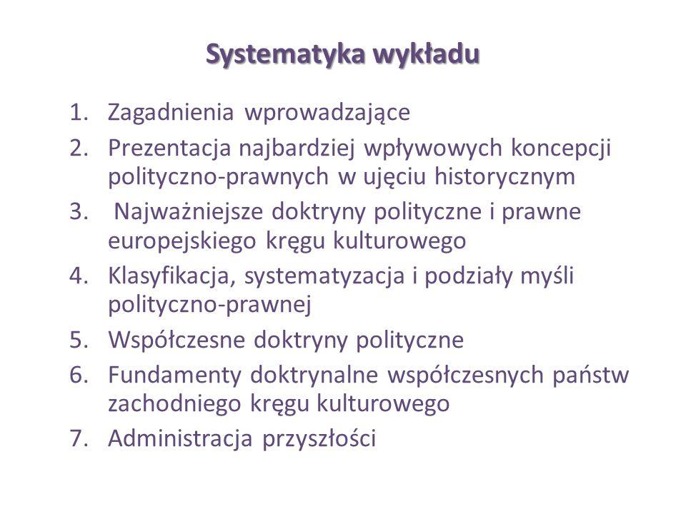 Systematyka wykładu Zagadnienia wprowadzające