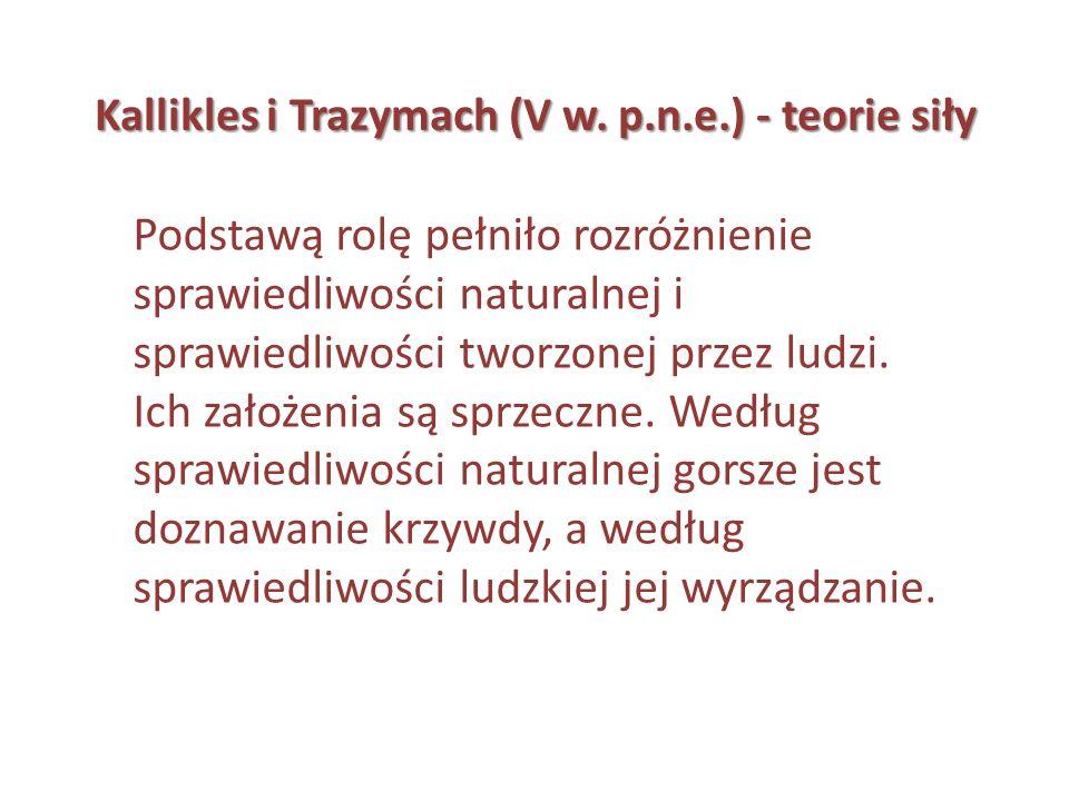 Kallikles i Trazymach (V w. p.n.e.) - teorie siły
